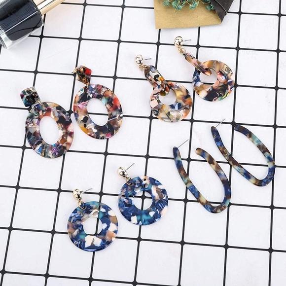 Jewelry - 2/$20 BaubleBar Style Dangle Hoop Earrings